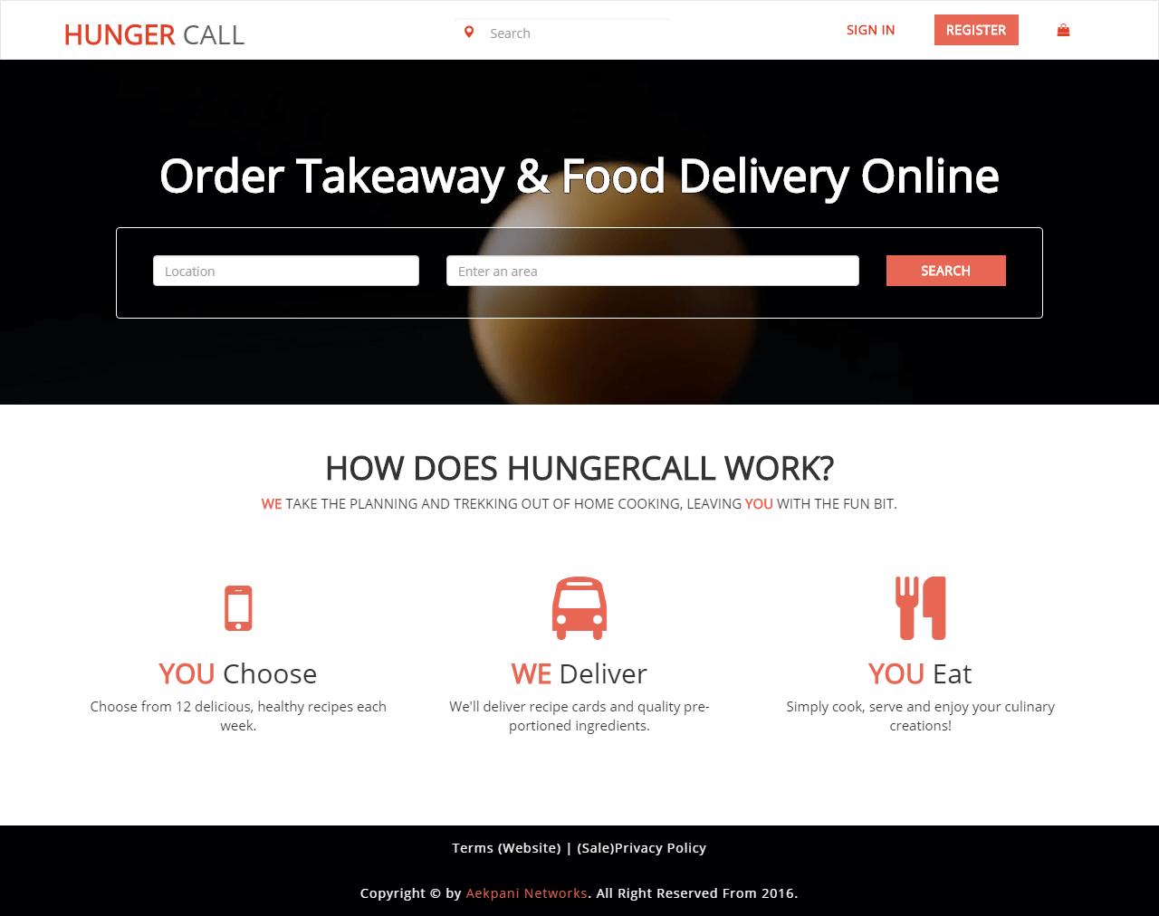 Hungercall Portfolio